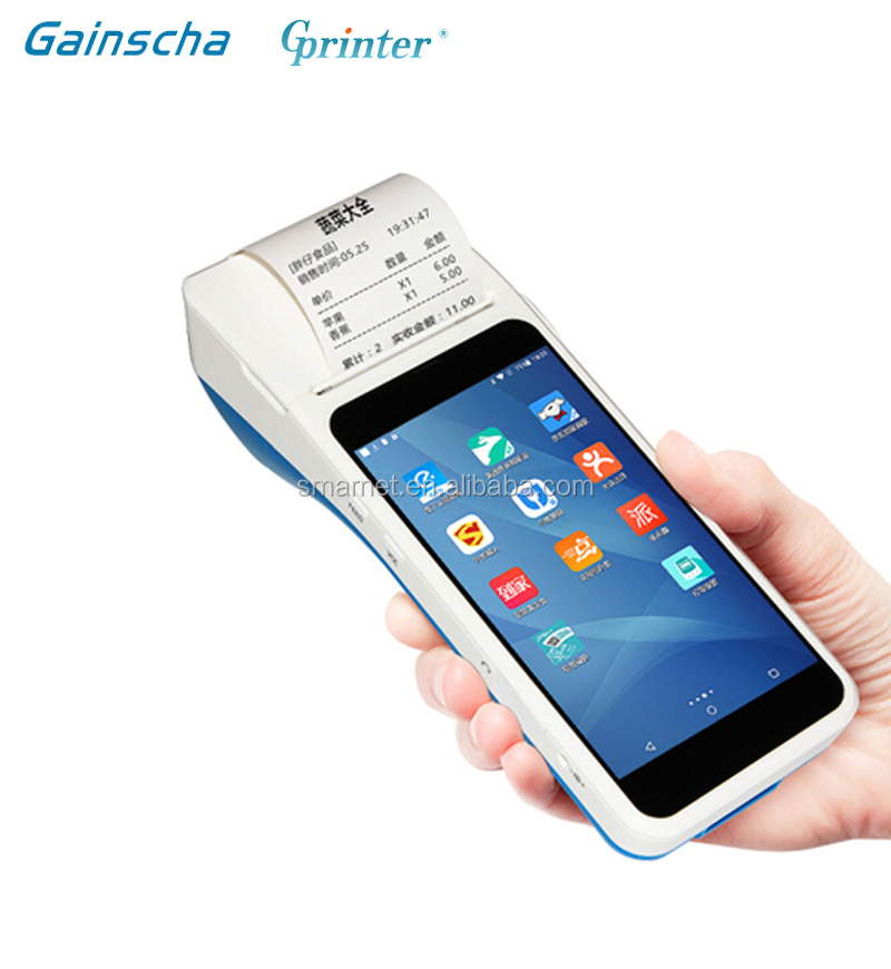 Gprinter wireless handheld android smart pos terminal with printer