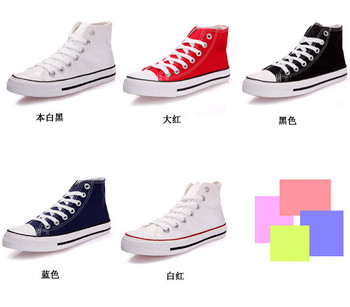 d46838a 2017 wholesale fashion casual high cut and low cut canvas shoes sneakers for women