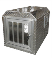 ALUMINUM DOG CRATE CAGE KENNEL~DOG TRANSPORTATION BOX