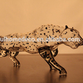 750ml Leopard Shape Hand Made Glass Bottle