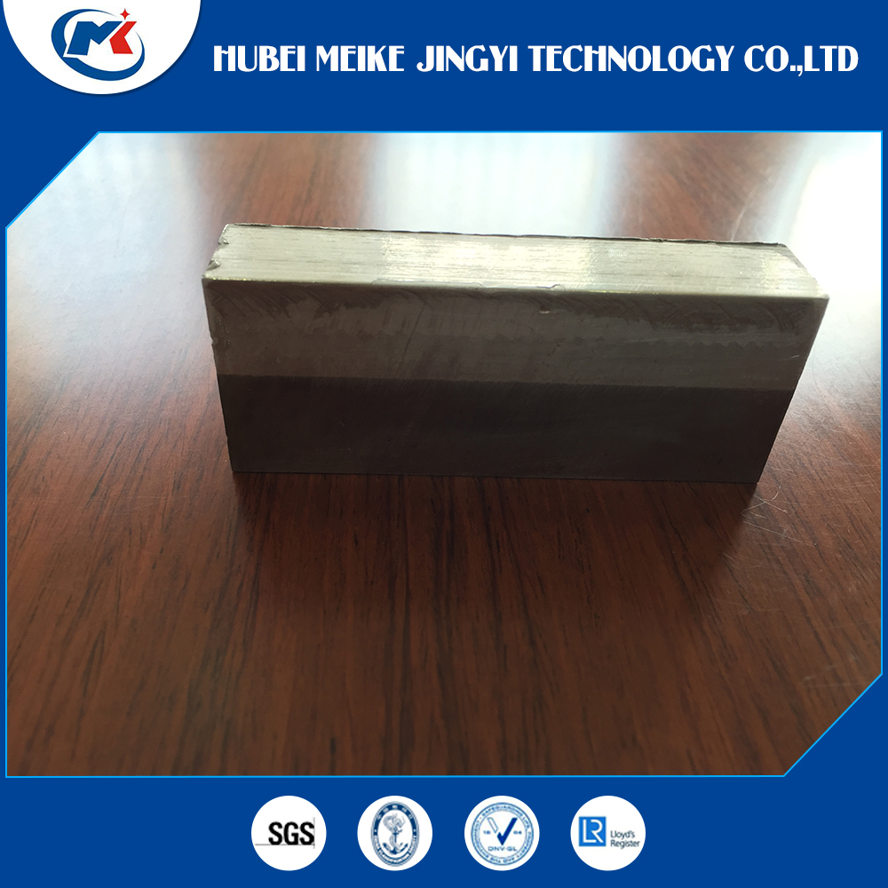 Ship construction material steel aluminum clad joints