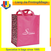 Custom Printing Pink Color Non Woven Fabric Shopping Bag