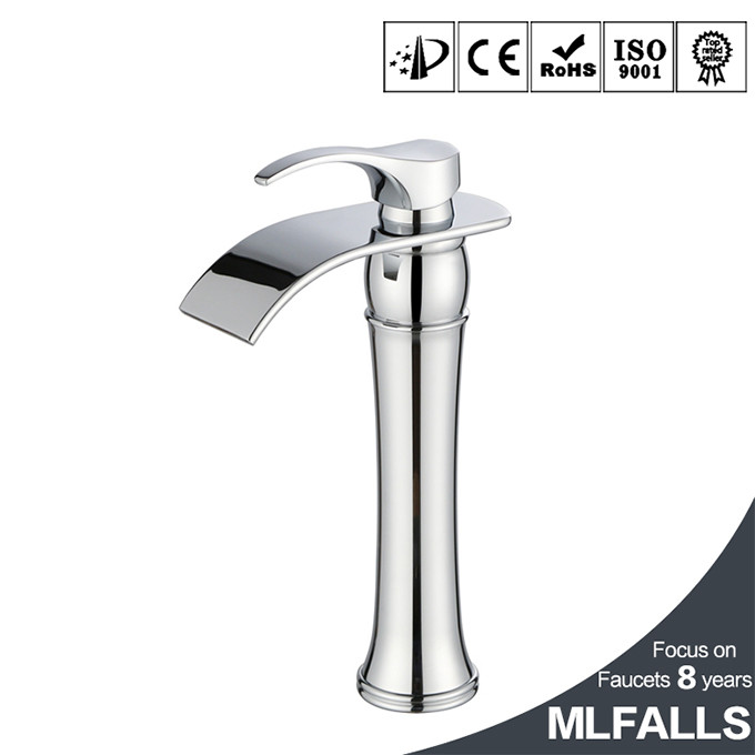 Top seller table top chrome finish single hole uk style basin water faucet