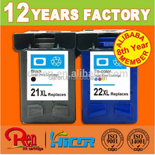 high margin products good quality printers compatible ink cartridge for hp 21 22