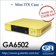 GA6502 - Thin Client mini-itx case Home Theater mini pc case with remoter control and power supply