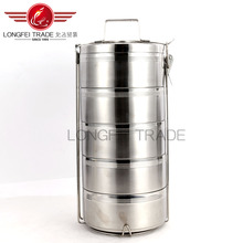 2016 Eco-friendly commercial multilevel stainless steel pertable lunch box/bento box