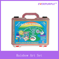 Rainbow Art Set With Handy Plastic Box,Art Set Painting