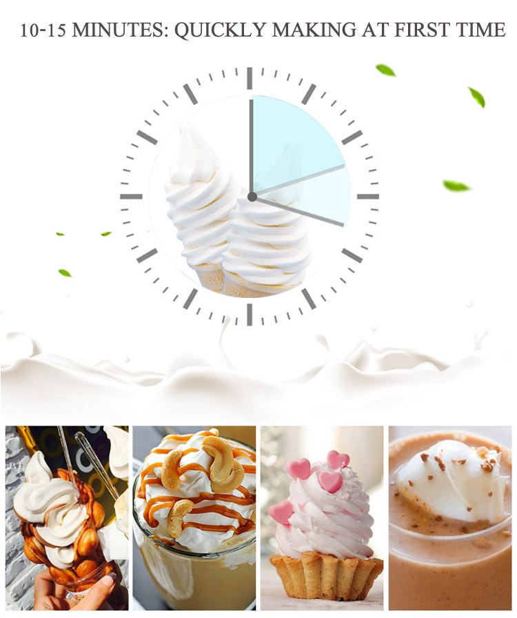 LVNI 60~80L/h multi flavor commercial soft serve ice cream making machine