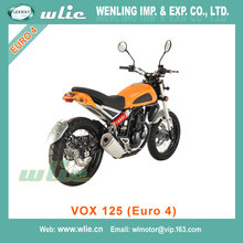 Fashion 125cc moped scooter monkey bike hot selling eec cruiser/ chopper motorcycle VOX (Euro 4)