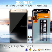 new hot product for samsung, lcd phones for samsung s6 edge g9250 unlocked original lcd display