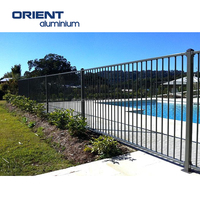 1200mm Black Grey Powder Coated Flat Top Aluminium Pool Fence (Factory & Exporter)
