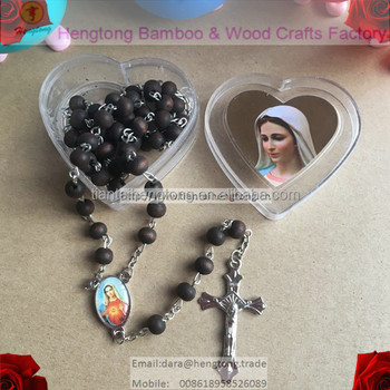 7mm religious rose scent rosary, beaded rosary necklace,virgin mary rosary, perfume rosary with heart box