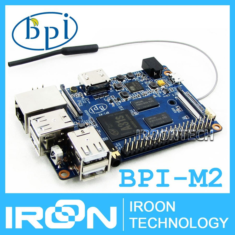 original BPI-M2 Banana Pi M2 A31S Quad Core 1GB RAM on-board WiFi Open-source development board singel-board computer
