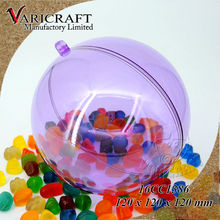 100% Food grade transparent plastic open ball for packing candy