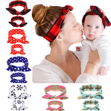 Kids Knotted Bow Tie Foil Jersey <strong>Headband</strong>