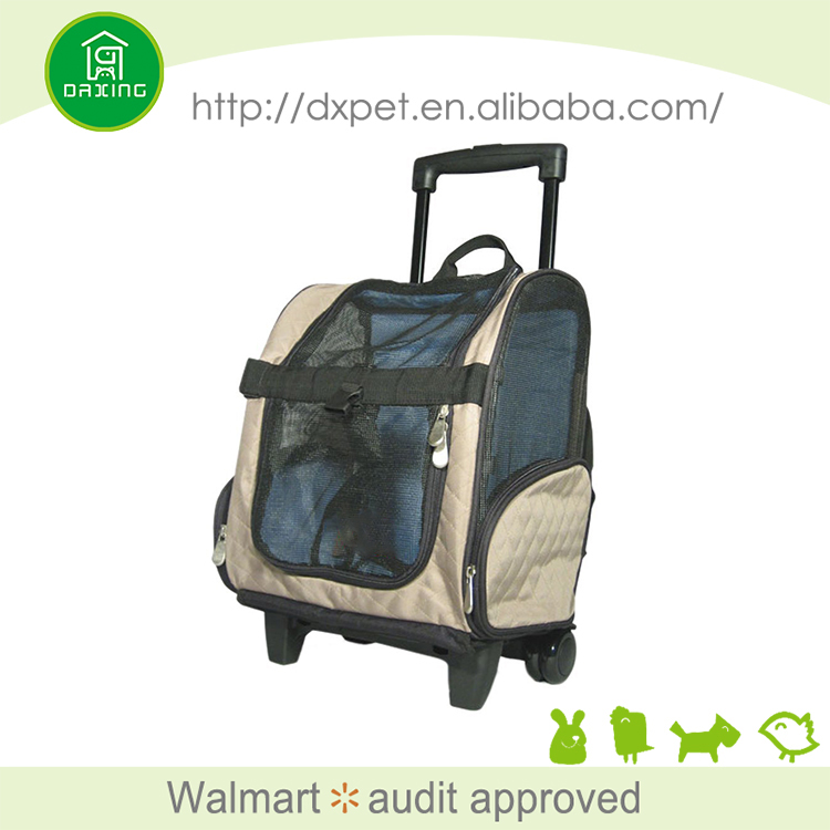 Frontpet rolling pet travel carrier with wheels