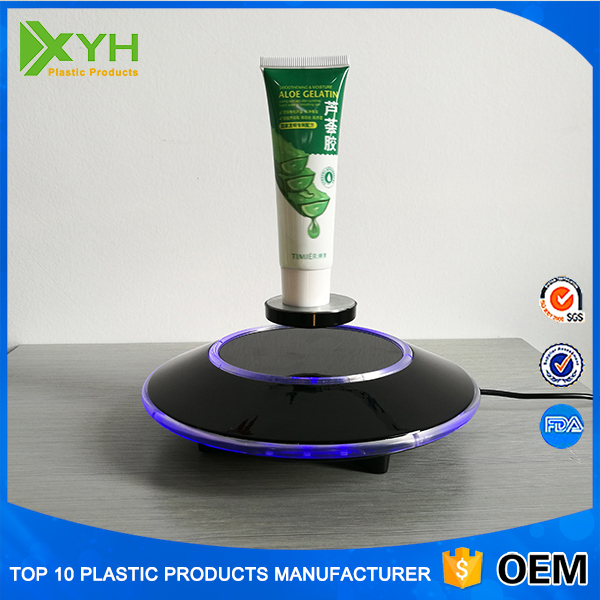 Auto free rotating UFO base magnetic floating Levitation acrylic makeup cosmetic shoe display