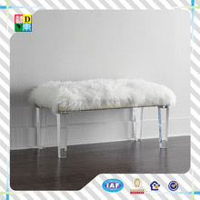crystal acrylic bed end stool/acrylic long bench/long bench stools