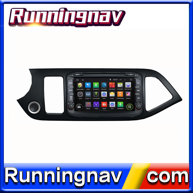 Android 5. 1.1 2 din multimedia with DVD gps for KIA Morning Picanto 2014 support Bluetooth-Enabled