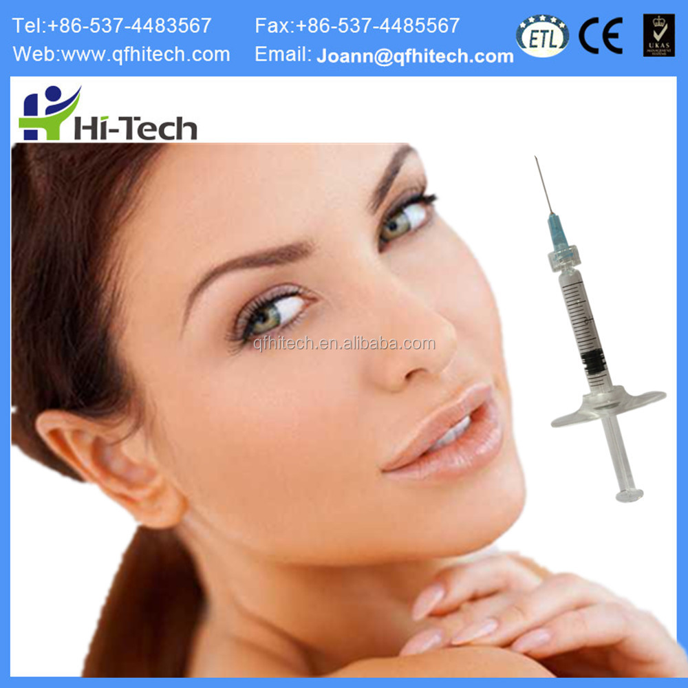 2ML Anti Aging Hyaluronic Acid Dermal Filler Injection, Plastic Fillers For Cheek Chin Fullness