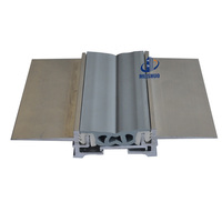 Tile floor flush rubber aluminium expansion joint covers