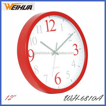 Red 12 inch promotional wall clock
