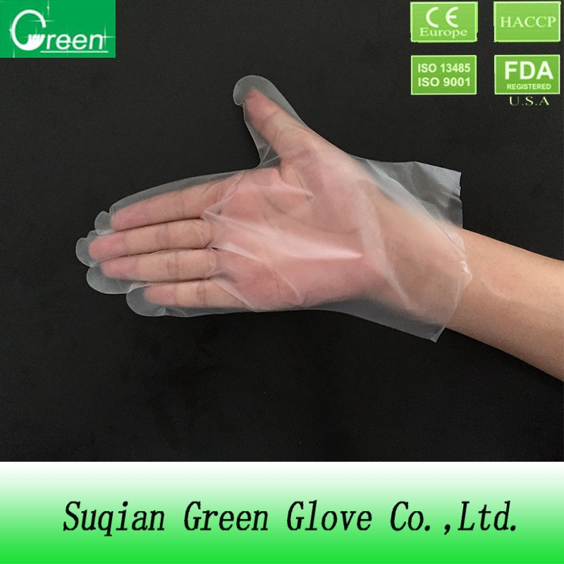 cpe clear plastic gloves/disposable finger gloves