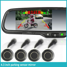 car rear view mirror parking sensor supporting back up camera and auto adjustment brightness