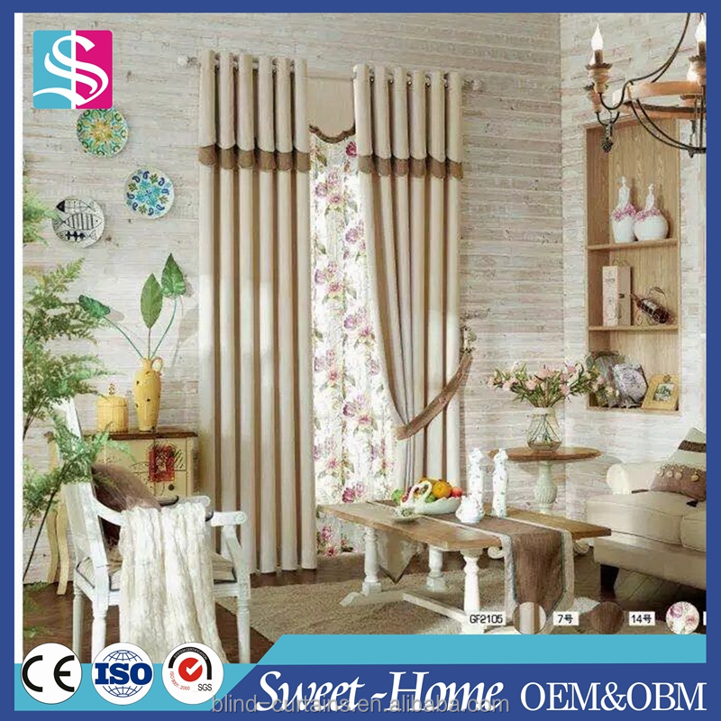 China supplier ready made eyelet window curtains for home decoration