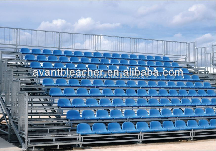 Aneasy Outdoor Grandstand , Metal Bleacher seats system with PP seating for international sporting events
