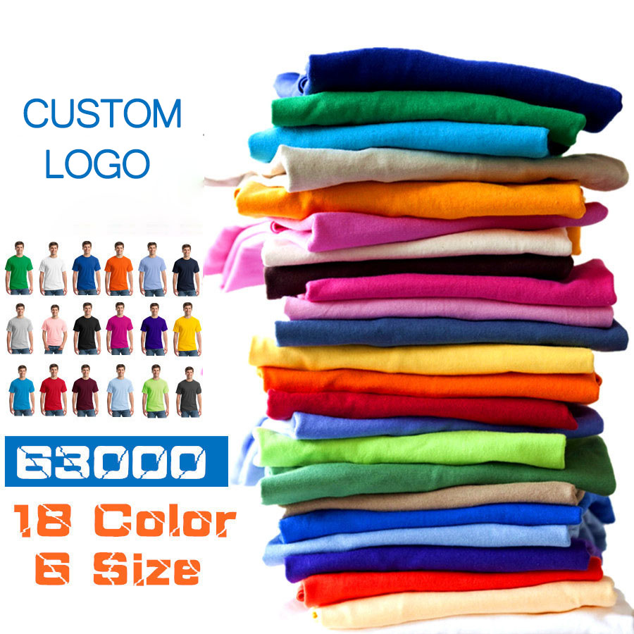 Wholesale short sleeve custom design fit high quality team tshirt Logo Printing 100% Cotton Custom T shirt Printed Tshirt