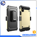 Shockproof Back Cover holster Case for Iphone X Hybrid Armor phone Case Holster Combo Shockproof Cover case for Iphone X