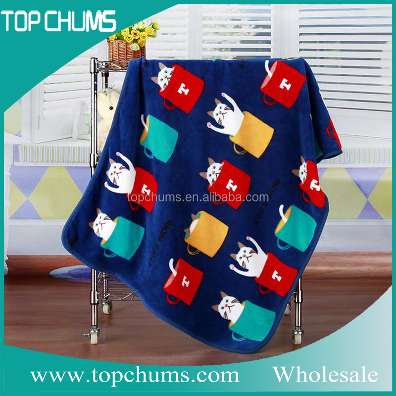 Cheap price with good quality cute printed children japan blanket