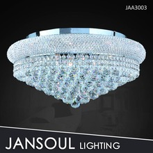 Discount cheap small chrome finished ceiling crystal light