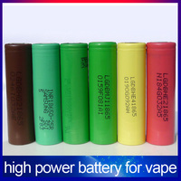 High drain discharge 18650 3.7V battery 20A 35A 1500mah/2500mah/3000mah/3500mah 18650 battery for vape
