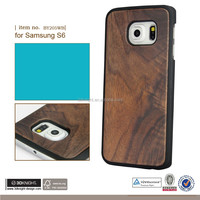 New Wood Wooden Cell Phone Case for Samsung Galaxy S6 Edge, for Samsung Case Bamboo, for Samsung Galaxy S6 Bamboo Case