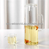 Wholesale FDA Custom Headmade Clear Borosilicate Glass Hot Wate Jug