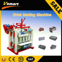 High output low cost automatic Brick Manufacturing Machine skid steer concrete mixer