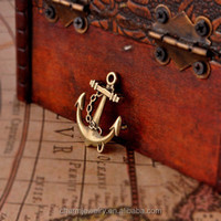 High quality antique jewelry cute flat back bronze anchor fashion jewelry accessories PJ029