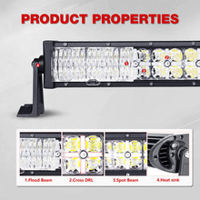 "IHY Factory Direct Sales 21"" 120W Combo Beam Work Driving Offroad Auto Crees Chip Curved Led Light Bar For Tractor Truck 4x4 SUV"