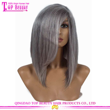 2016 virgin human hair silver wig hot selling products silver grey human hair lace wigs wholesale