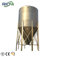 50T corrugated grain silos used for storage corn wheat