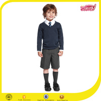 Elegant england style fashion sweater and short pants and white shirt with tie for uniforms for choirs