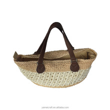 Hot sale environmental protection women trendy straw tote bags