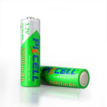 AA 2000mAh 1.2 volt Rechargeable Battery NI-MH 1.2V 2A Baterias