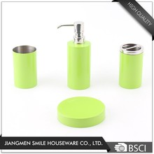 Eco-Friendly natural green stainless steel Bathroom Accessories Bath Sets