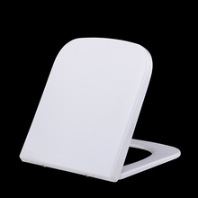 Square shaped one button and quick release Duroplast safety toilet seat