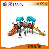 Children outdoor playground plastic material garden outdoor swing and furniture equipment