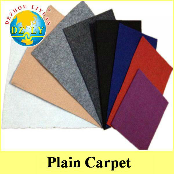 Needle Punched Plain Exhibition Carpets