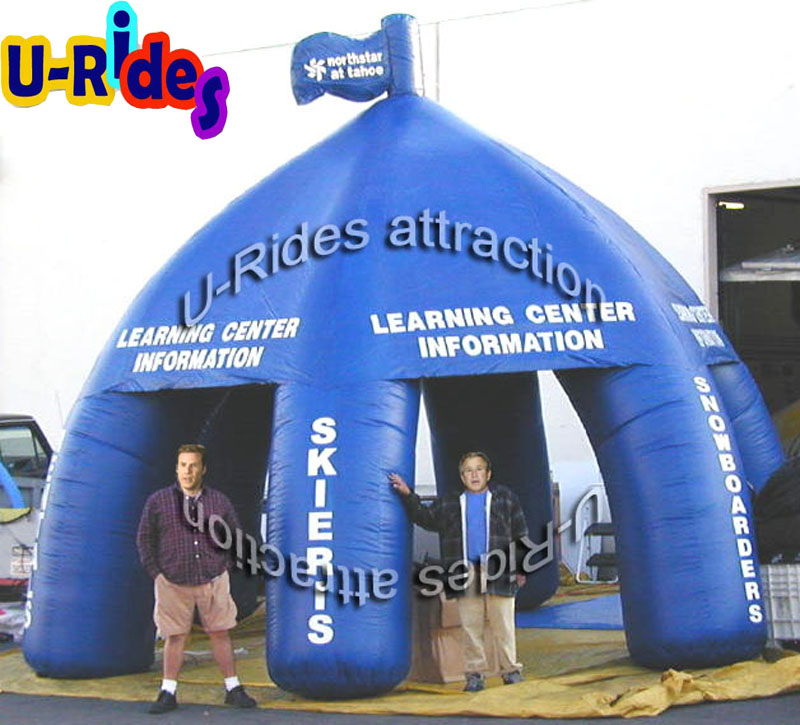 customized spider outdoor inflatable lawn tent for exhibition